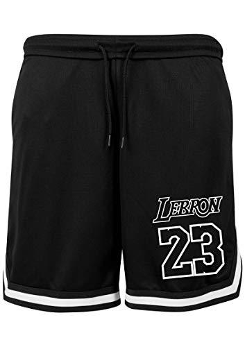 KiarenzaFD Shorts Basket Lebron King James 23 Los Angeles All Star Games Herren, KBYB00004-M-Black-/-White, Black/White, Medium