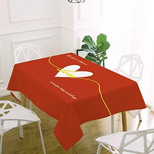 FuJia Tovaglie Tovaglia di Natale Impermeabile e Sporco Panno tavolino da caffè tovaglia di Lino di Cotone per Uso Domestico