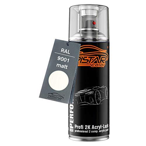 RAL 9001 Cremeweiss matt 2K Acryl Sprühdose Spraydose Sprühlack Spritzlack 400 ml schnelltrocknend