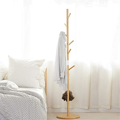 Asffdhley Perchero multifunción para pasillo, 1,75 m, para abrigos, pasillo (tamaño: 175 x 38 x 38 cm; color: madera)