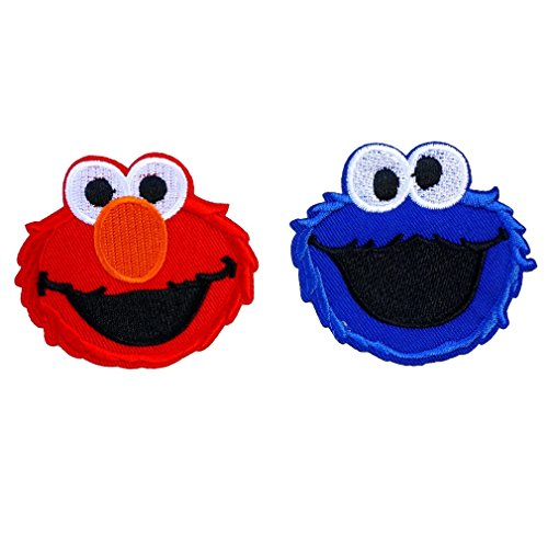 Poom patches Cartoon Character Logo Iron on or Sew on Embroidered Patch 2 Pcs