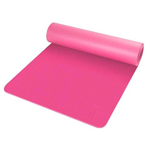 N-B Exercise Mat, Yoga Mat, Dance Mat, Fitness Mat, Non-Slip Mat, Natural Rubber Yoga Mat and Pilates Fitness Bag, 183 X 61 X 1CM