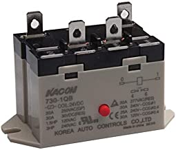 730-1QB-110VAC, Electro Mechanical Power Relay, Panel Mount & Quick Connector(#250), 30A SPST NO, 110VAC Coil Input