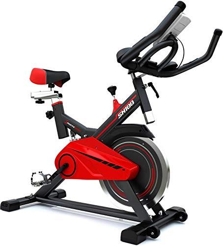 SPORTSTECH Profi F-Bike | Vélo d'appartement avec volant de 13 kg et Ebook | avec vidéos et applications multijoueurs | Équipement de fitness pour la maison | Vélo d'appartement jusqu'à 120 kg | SX100