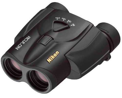 Nikon Aculon T11 8-24x25 Bincolo Compatto, Ingrandimento 8-24x, Diametro Obiettivo 25 mm, Nero