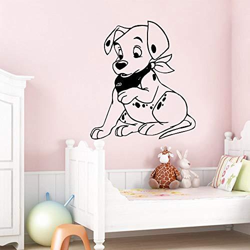 Tianpengyuanshuai Cute Dog Impermeable Etiqueta de la Pared Sala de Estar Decoración del hogar Habitación de los niños Dormitorio Art Deco Mural 69X78cm