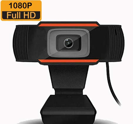 Emily Webcam,HD1080P Web Cam, USB Webcam,PC Webcam Full HD con Microfono Stereo elecamera PC Microfoni Audio Stereo ridurre Il Rumore per Video Chat e