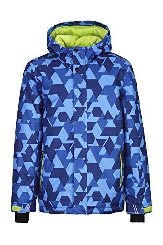 Killtec Jungen Gavyn Allover Jr Skijacke/Funktionsjacke Mit Kapuze Und Schneefang, 10.000 Mm Wassersäule, Wasserdicht, blau, 176 (XL)
