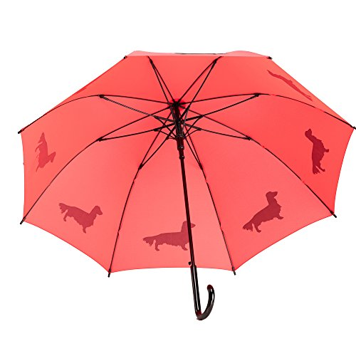 The San Francisco Umbrella Company Long-Haired Dachshund, Island Paradise Blue, One Size