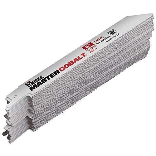 50 Pc MK Morse Master Cobalt Bi-Metal Reciprocating Saw Blades 14 TPI 6