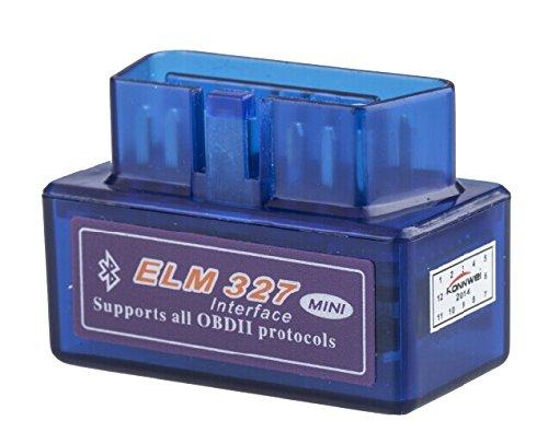 Mini scanner auto OBD V2.1, OBD2, Bluetooth, OBDII - Outil de diagnostic automobile pour Android - LOBZON, modèle ELM327