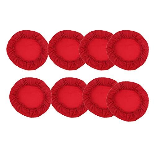 Fenteer Juego de 8 Protectores de Asiento de Silla de Comedor para Banquetes de Boda Cómodos Rojos, Gran Decoración para El Asiento de La Silla del Hogar O La