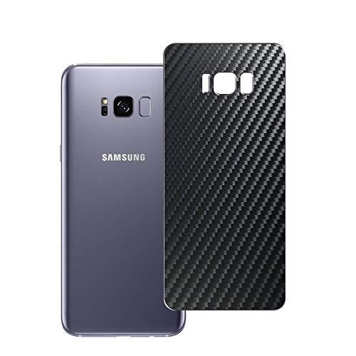 Vaxson 2 Unidades Protector de pantalla Posterior, compatible con Samsung Galaxy S8+ S8 Plus SM-G955, Película Protectora Espalda Skin Cover - Fibra de Carbono Negro