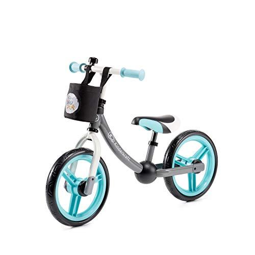 Kinderkraft Laufrad 2WAY NEXT, Lernlaufrad, Kinderlaufrad, Lauflernrad für Kinder, Kinderrad mit Zubehör, Klingel, Tasche für Kleinigkeiten, 12 Zoll Räder, Metall, ab 2 Jahre, Modernes Design, Türkis