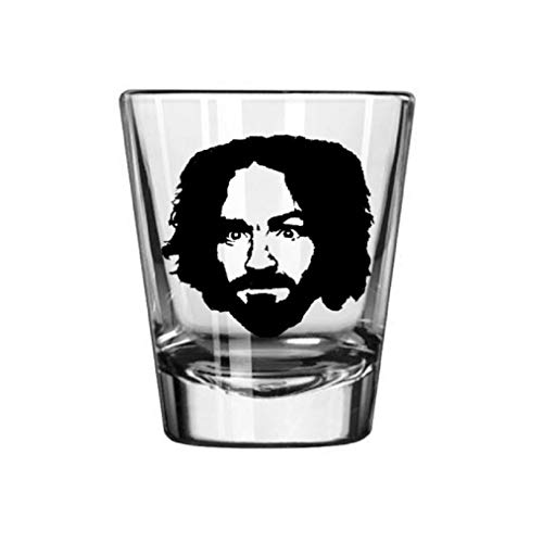 Charles Manson Cult Serial Killer True Crime Criminal Murderer Halloween Horror Shot Glass