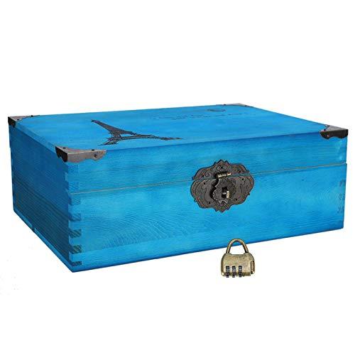 Caja De Almacenamiento De Madera, Caja De Almacenamiento Fuerte Y Firme Para Joyas Para Cosméticos