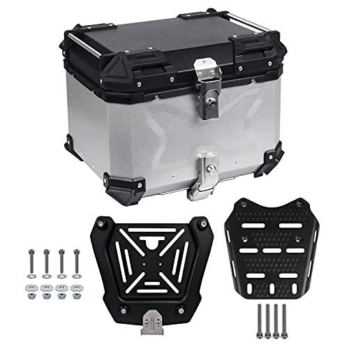 PCX専用 ボックス キャリア セット 容量45L アルミ合金製で頑丈! 取付,着脱も簡単 オシャレなデザイン リアボックス リアキャリア トップケース リアケース ケース バイクボックス トップボックス アルミボックス アルミケース BikeBox バイ