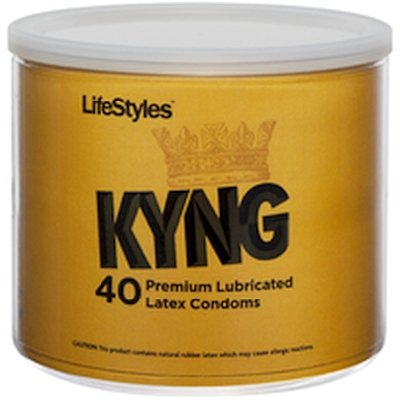 Paradise Products Lifestyles Kyng Latex Condoms Bowl, 40 Count