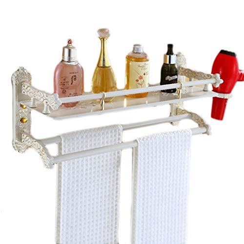 XXT Aseo Ducha Estante cosmético Montaje en la Pared ponche Gratis baño Europeo toallero (Size : L42CM)