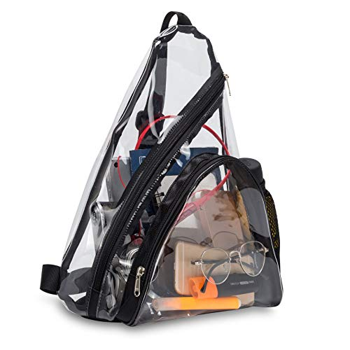 Bolsas de PVC transparentes para correr en la playa, mochila de viaje casual para mujeres y hombres