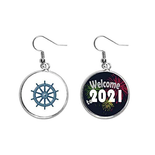 Rudder Exploration Military Ocean Army Ear Pendants Earring Jewelry 2021 Blessing