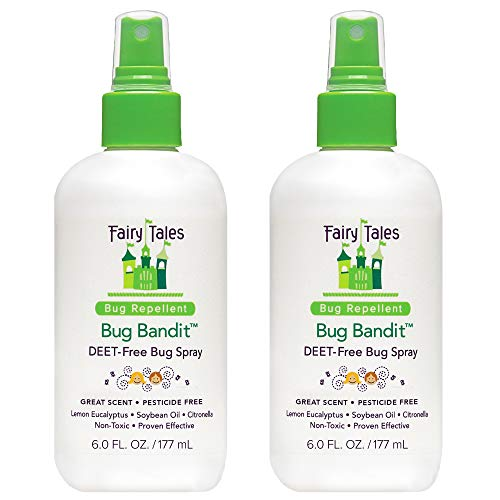 Fairy Tales Bug Bandit- Natural Bug Spray Kids Safe- Deet Free Insect Repellent- 6 oz (2 Pack)