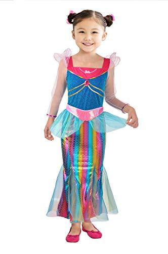 Ciao-Barbie Sirena Arcobaleno costume bambina, 4-5 anni Disfraz, multicolor, (11665.4-5)