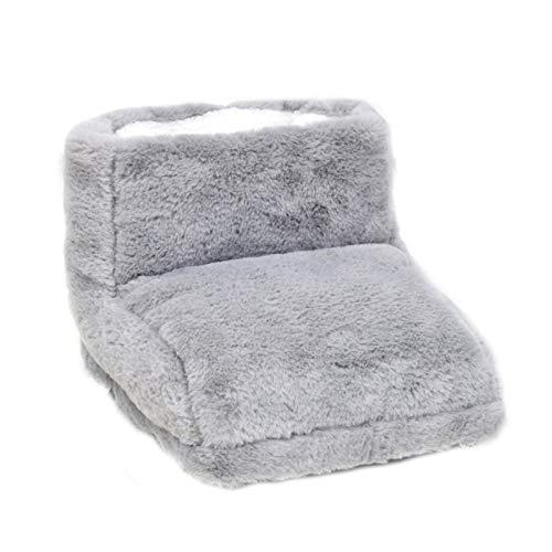 USB Beheizter Fußwärmer, Elektrischer Fußwärmer für Damen und Herren mit kalten Füßen, Gemütliche Wärmflasche Fußsack Snug Fußwärmer, Wiederaufladbare Elektrische Heizschuhe, grau