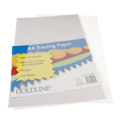 Goldline Trace Paper, A4, 63 gsm, 25 fogli