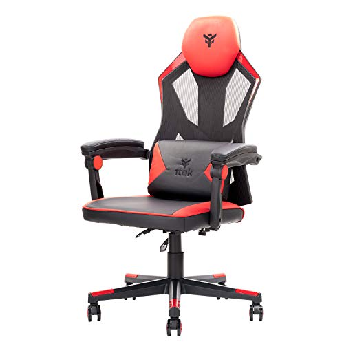 Itek Gaming Chair 4Creators CF50, PVC, Rojo, Normal