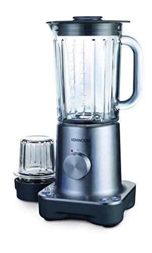 Kenwood BL770 Standmixer, 800 W, 1,6 l Glas-Mixbehälter, Multi-Mühlenaufsatz, silber