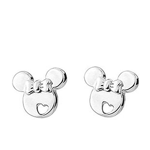 baobei minnie mouse gioielli per donne happy love kids 925 sterling silver hollow mickey mouse stud orecchini regalo per ragazze bambini (s1480)