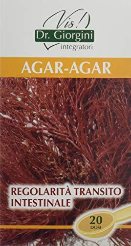 Dr. Giorgini Integratore Alimentare, Monocomponenti Erbe Agar-Agar Polvere - 100 g