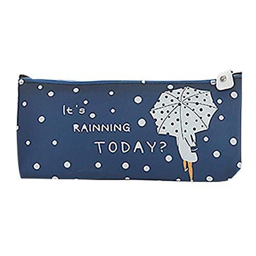 Brinube Paraplu Bedrukte Omgekeerde Trapezoïde Pectin Potlood Case Kleurrijke Hoge Capaciteit Stationery Pen Pencil Case Cosmetic Bag Reizen Make-up Bag Geschikt voor Dagelijks Dchool Gebruik 19x8.5x3.5cm C