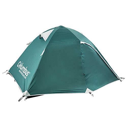 COLUMBUS Tente Camping Nature 2 Personnes Tente Dôme Double Couche Imperméable Randonnée Pique-Nique