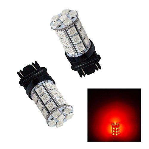 PA 2 x 30 SMD 5050 LED Arrêt Queue ampoules 3156 3057 3157 12 V-red