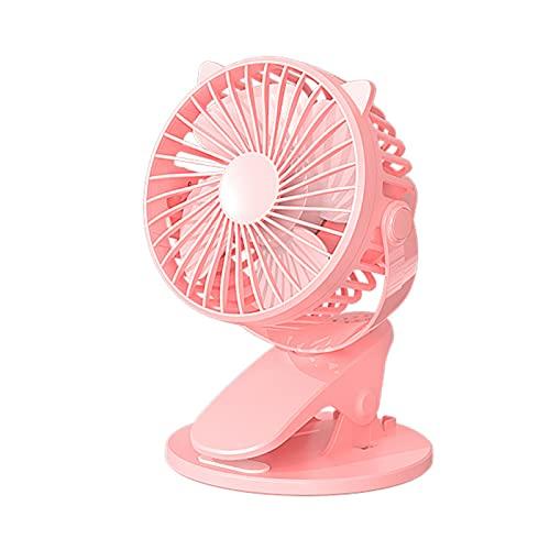 HCXN Ventilador,Ventilador De Escritorio con Clip,Ajuste De Tres Velocidades,Ventilador Silencioso PortáTil,Adecuado para Viajes En Casa/Oficina,Hay Cuatro Colores Disponibles