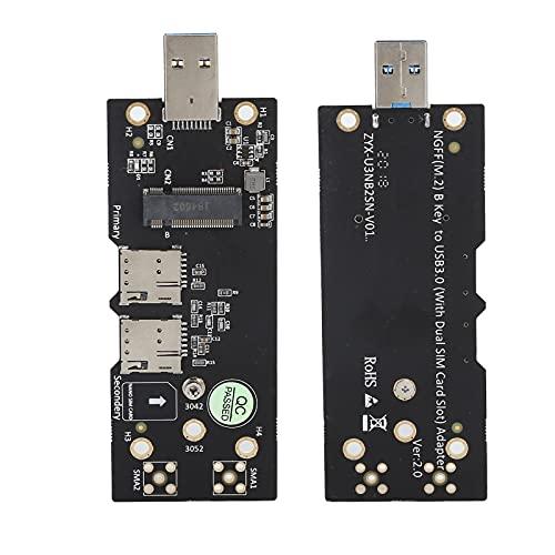 Adaptador M.2 a USB, Adaptador M.2 a USB 3.0 NGFF Key B Prueba de módulo Vertical 3G / 4G / 5G con Ranura para Tarjeta SIM Dual, Compatible con Tarjeta de módulo USB3.0 NGFF (M.2) Key B