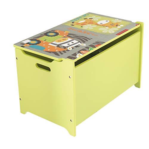 Bieco Spielzeugtruhe und Sitzbank | Aufbewahrungsbox Kinder | Holzkiste mit Deckel | Sitzbank mit Stauraum | Spielzeugkiste mit Deckel | Truhe Holz | Aufbewahrung Kinderzimmer | Spielzeugkiste Holz - 5