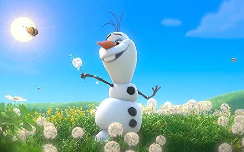 CHANGJIU- Puzzle De 1000 Piezas para Niños- Póster Frozen Olaf -Educación para Padres E Hijos, Rompecabezas Creativos, Descompresión para Adultos 75X50Cm