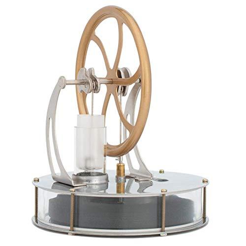 Baja temperatura del motor Stirling motor, el calor del motor de vapor del kit para la Educación Modelo Enseñanza de las Ciencias (de oro)