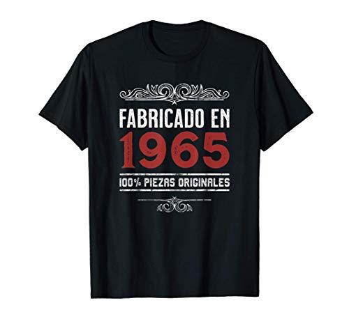 Hombre Fabricado En 1965 100% Piezas Originales Cumpleaños Camiseta