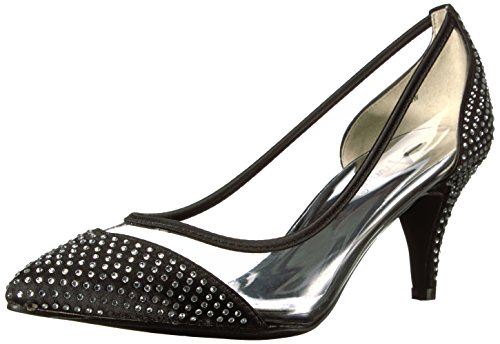 Annie Shoes escarpim feminino de luxo, Preto, 6 Wide