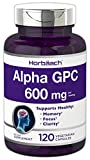 Alpha GPC 600mg | 120 Capsules | Vegetarian, Non-GMO & Gluten Free Choline Supplement | Supports Healthy Memory, Focus and Clarity | by Horbaach