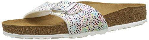 BIRKENSTOCK Damen Madrid Pantoletten, Mehrfarbig (Multicolore Oriental Mosaic White Multicolore Oriental Mosaic White), 37 EU