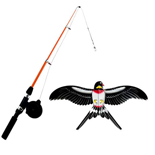 okyaios 2021 New Dynamic Kite, This Fishing Rod Little Swallow Kite is Easy to Fly, Kite for Children Under 10 Years Old, Can be Used for Children