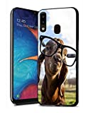 Galaxy A10E Case, Galaxy A20E Case, Premium TPU Slim Anti-Scratch Rubber Protective Case Cover for Samsung Galaxy A10E / A20E (2019) - Goat with Glasses