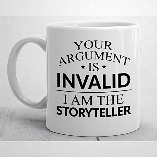 Taza para cuentacuentos, regalo para narrador de cuentos, divertida taza de café, taza de narrador, regalo de Navidad, cumpleaños, 325 ml, taza de café o té de cerámica