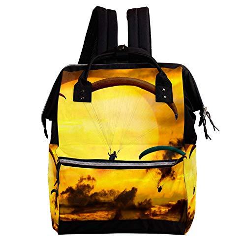 Gleitschirme Casual Rucksack mit großer Kapazität Multi-Pocket Out Reisetasche Schultasche für Jungen und Mädchen Kinder 27x19.8x36.5cm
