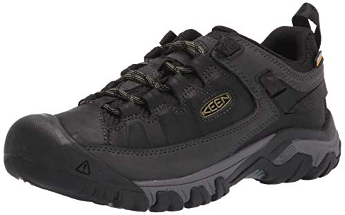 Keen Targhee 3 Low Height Waterproof, Zapatos para Senderismo Hombre, Black/Olive Drab, 42 EU